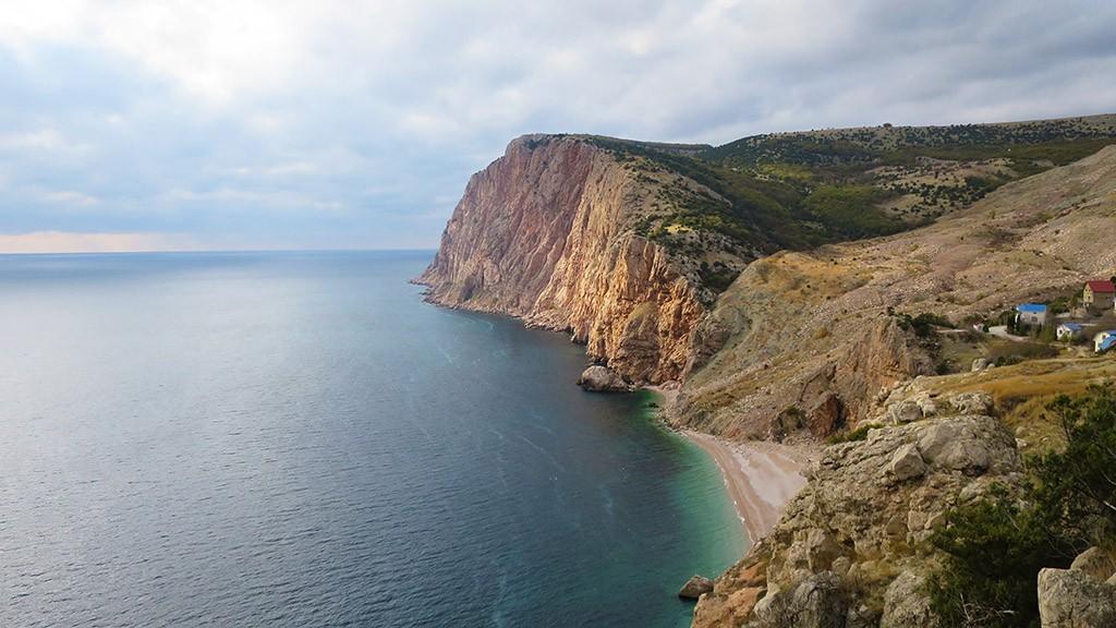 Вид на пляж Васили, Балаклава.