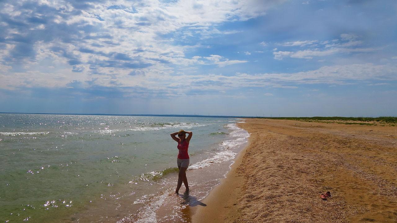 Казантипский залив на Азове