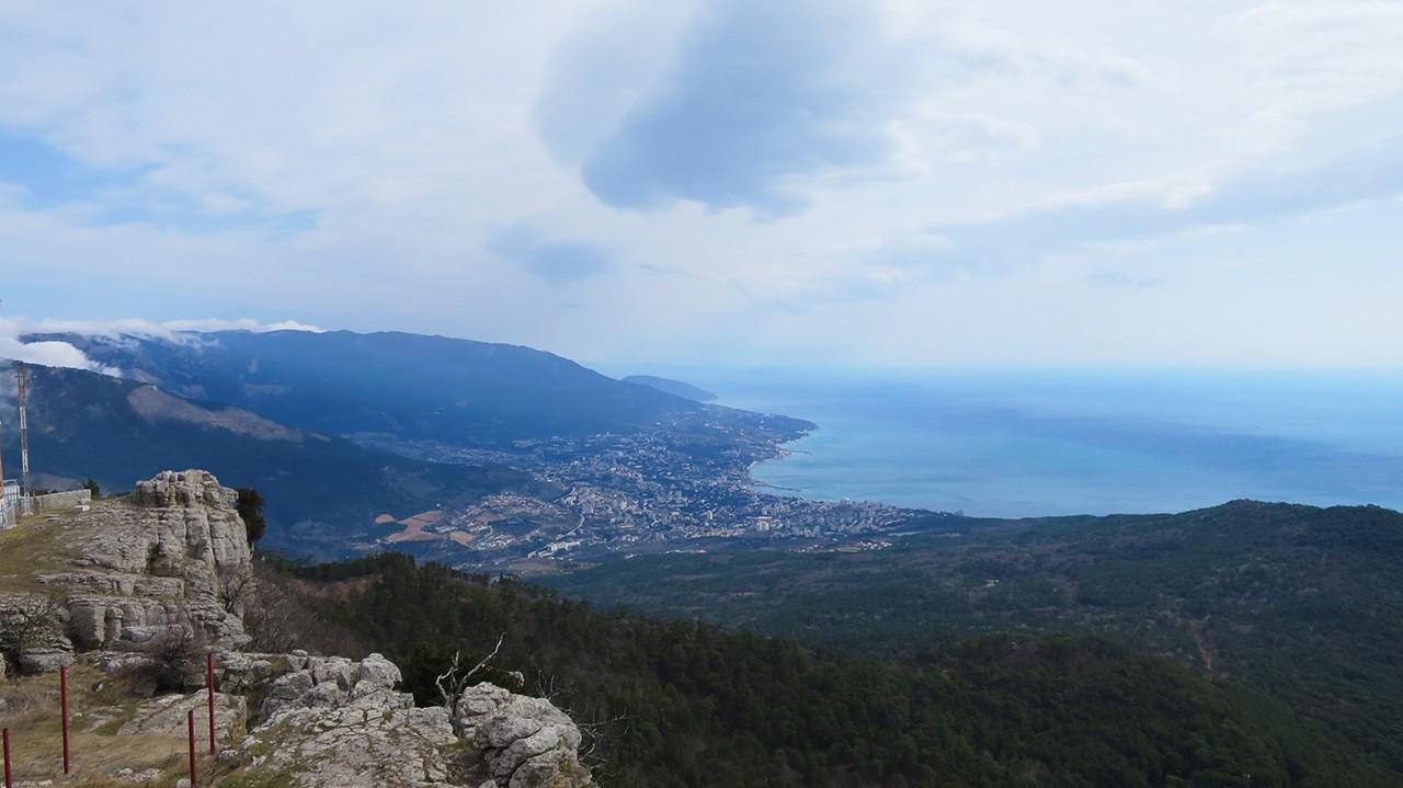 Ялта с горы Ай-Петри