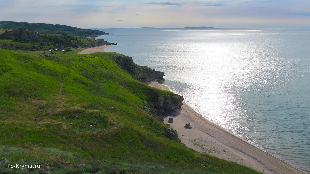 Тихое Азовское море в июне