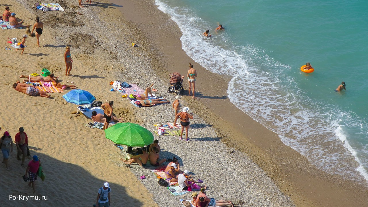 Дикий пляж Немецкая балка, Кача.