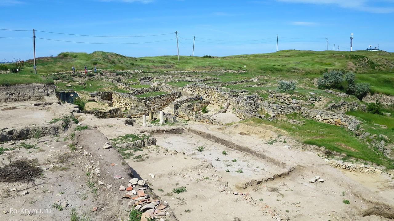Городище Нимфей, план реконструкции.