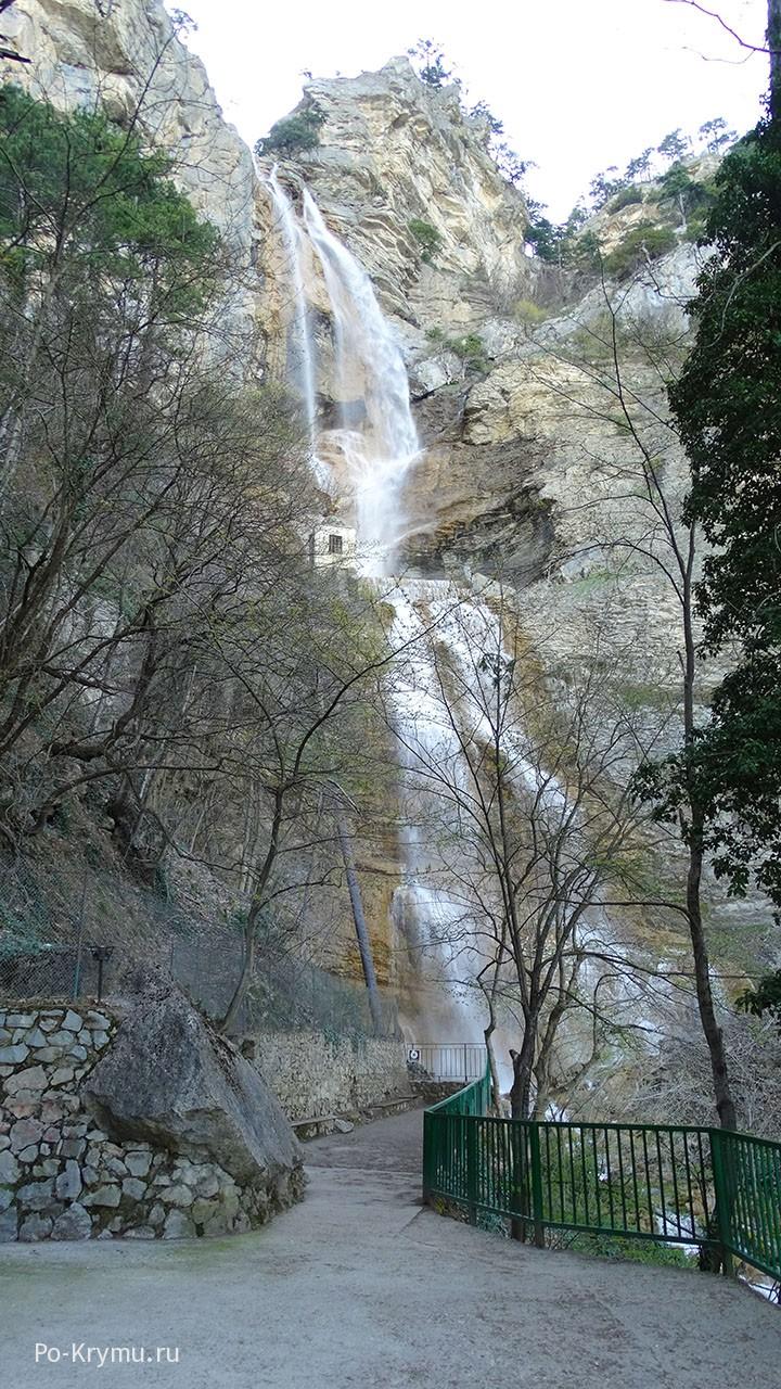 Водопад Учан-Су в Ялте.