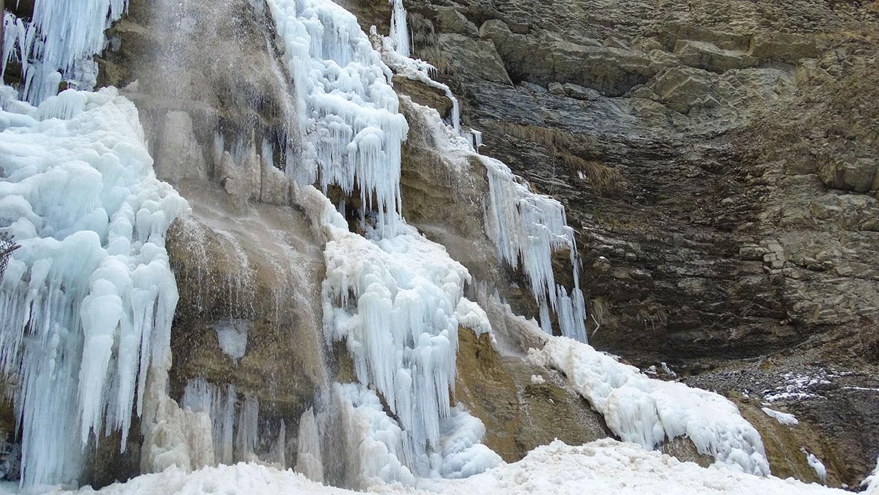 Что посмотреть в Ялте зимой - водопад Учан-Су.