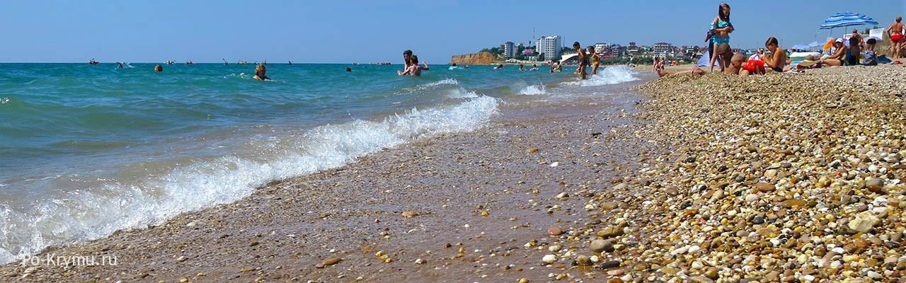 Песчаное побережье между Вязовой рощей и Орловкой.