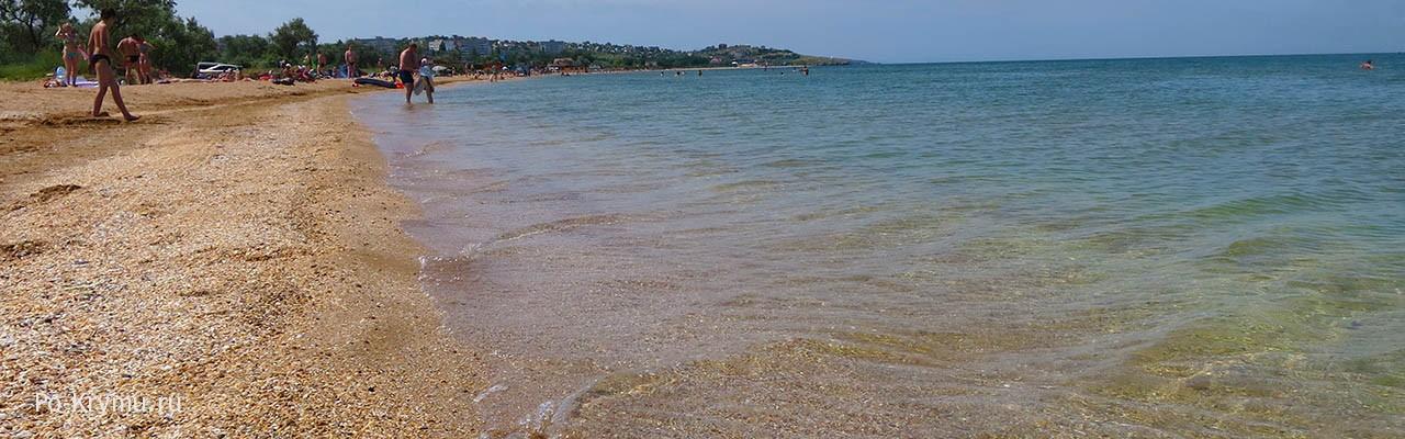 Крым, фото поселка, моря и пляжа у Щелкино и Мысового.