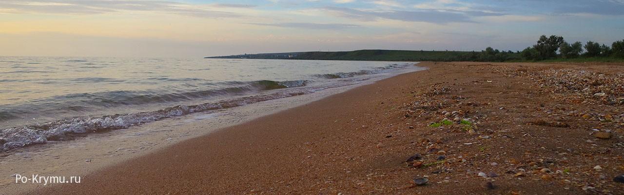 Западный Крым, Новоотрадное - фото поселка, пляжа, моря.