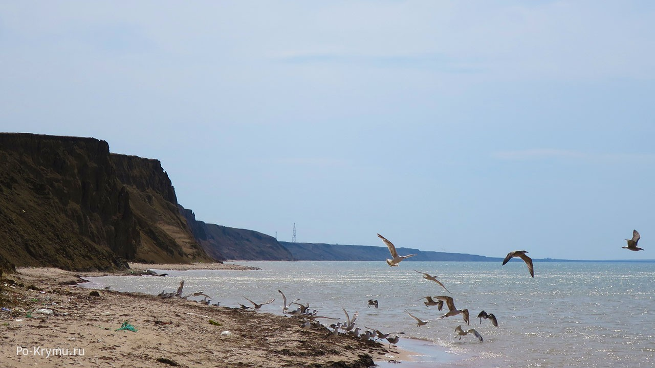 Прибрежные скалы на востоке Феодосийского залива.