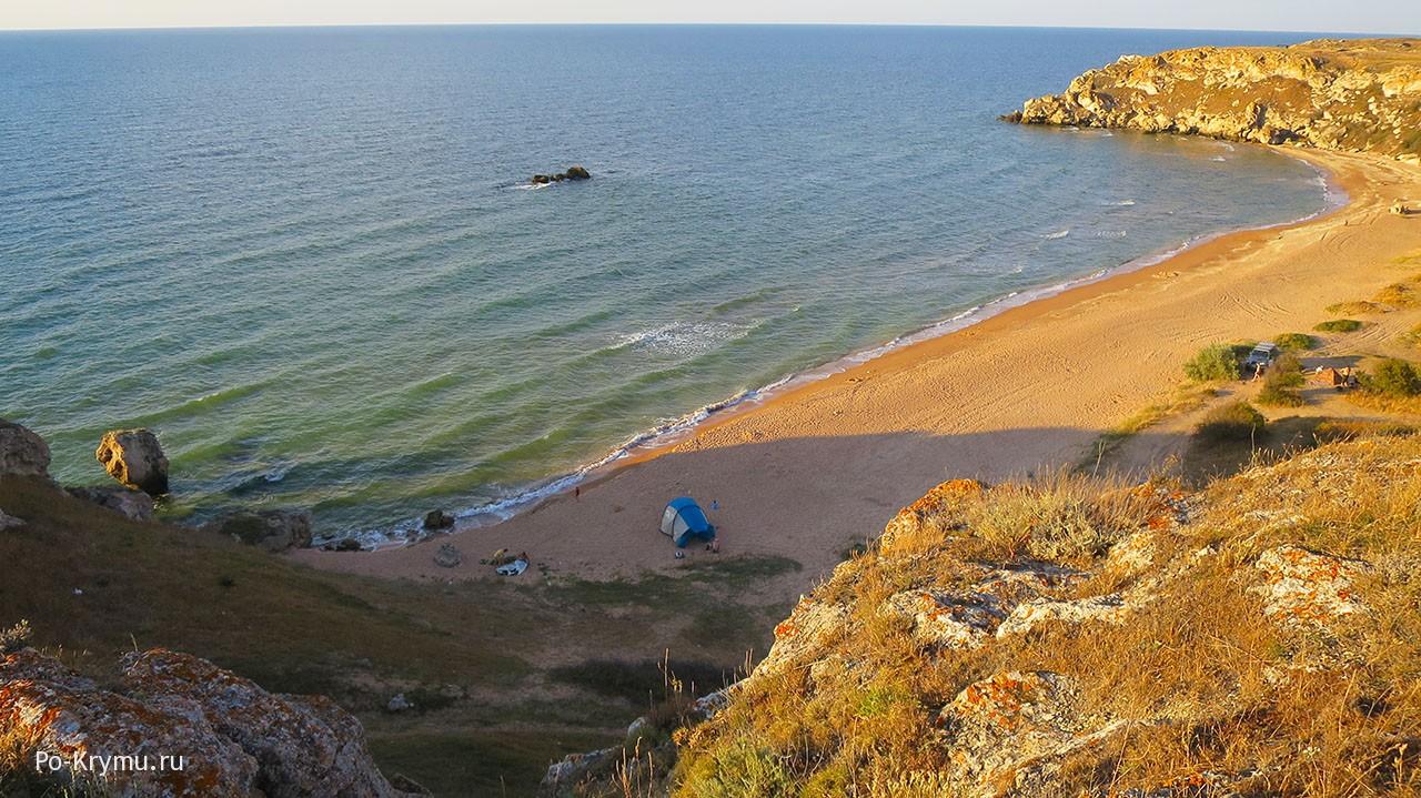 Закат на побережье Азовского моря.