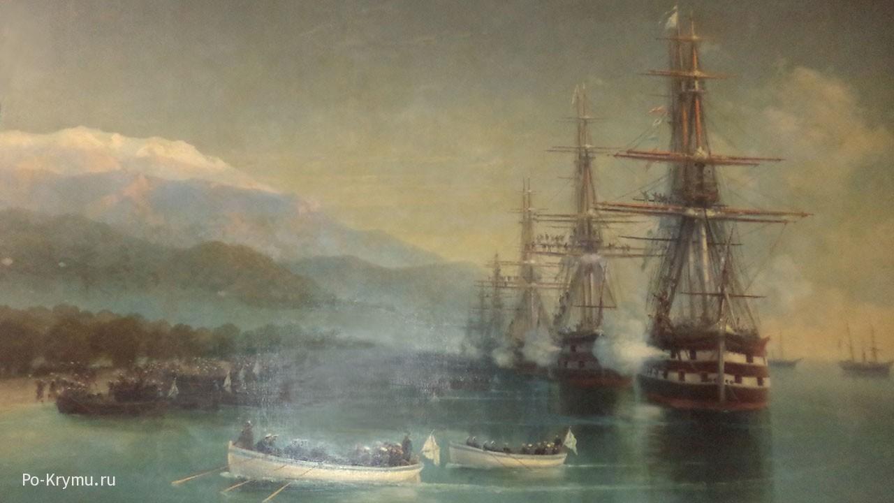 Одна из картин музея.