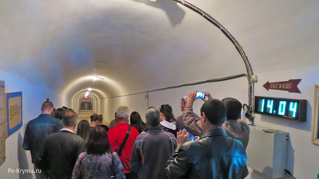 Севастопольский музей бомбоубежище на Суворова.