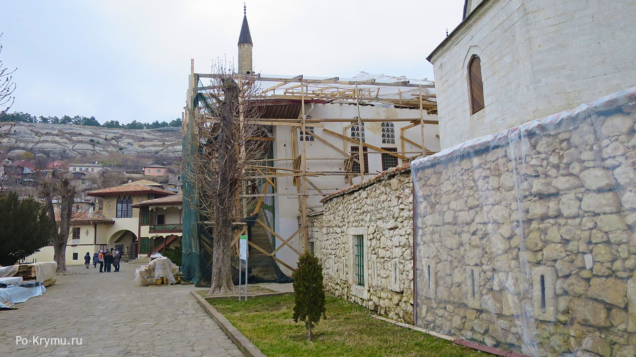 Как идет ремонт Большой ханской мечети, 2018 год.