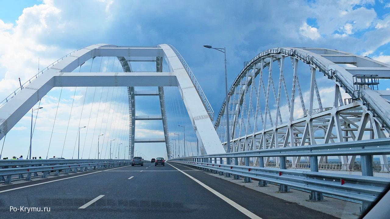 Открыли мост через Керченский пролив.