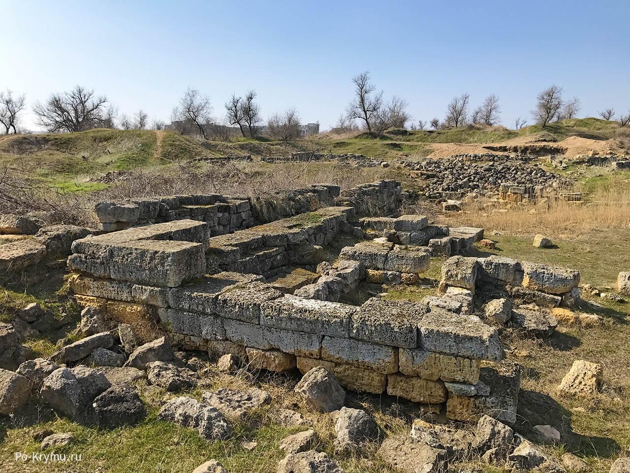 Античное городище «Чайка» в Евпатории.