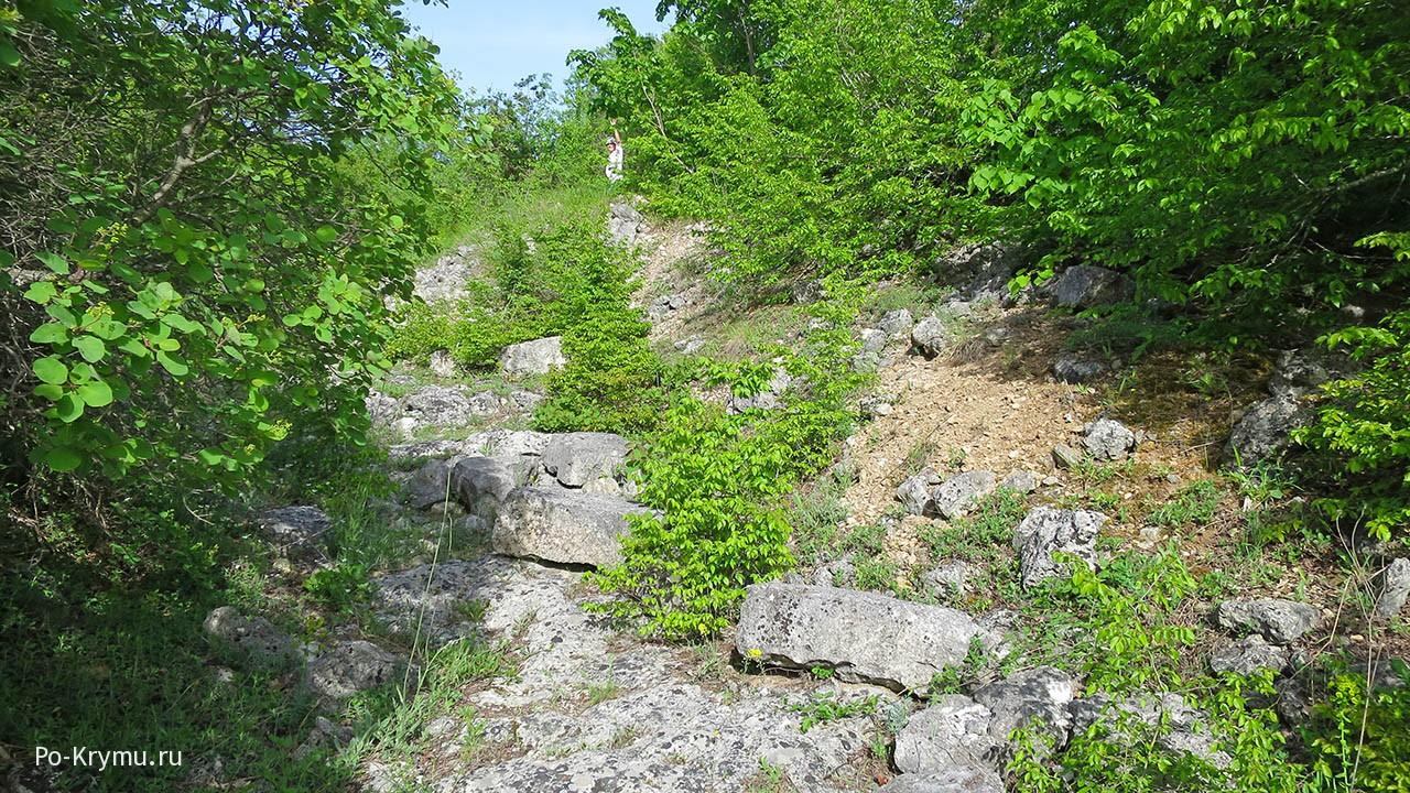 Пещерный город Кыз-Кермен, оборонительная стена.