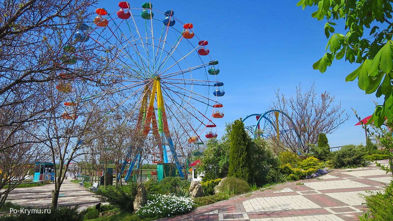 Парк львов Тайган, колесо обозрения.