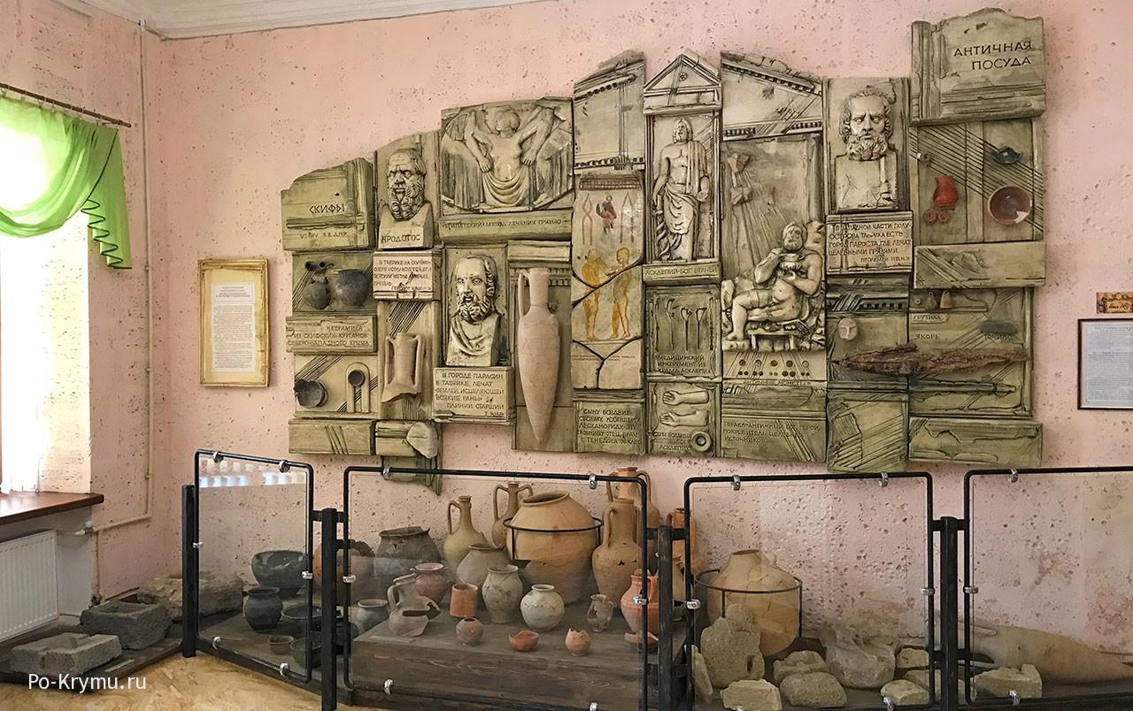 Дизайн античной экспозиции.