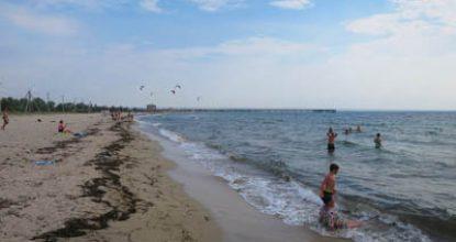 Пляжи в Межводном