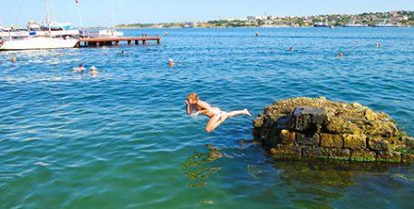 Пляж Ушакова бухта