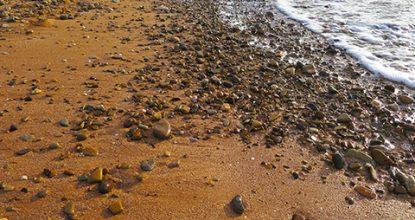 Пляж Юркино в бухте Булганак под Керчью