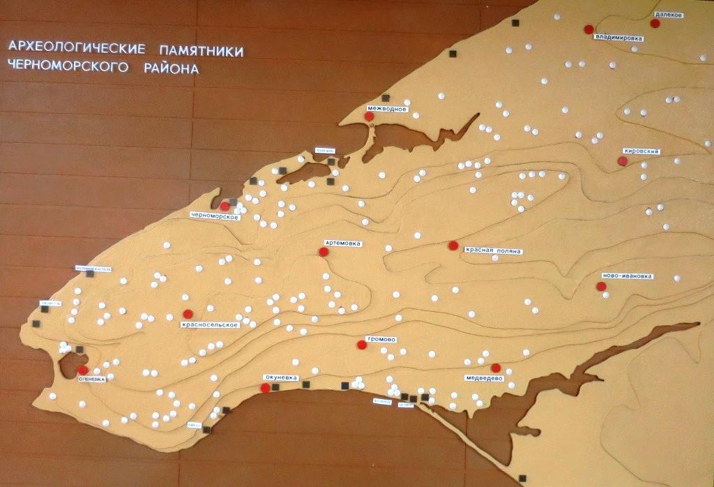 Черноморский район, карта.