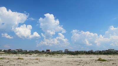 Пляж у Мирного на косе Южной
