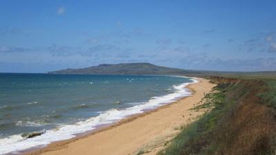 Пляж у Опукского заповедника