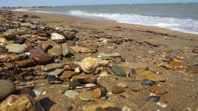 Пляж у озера Тобечикское