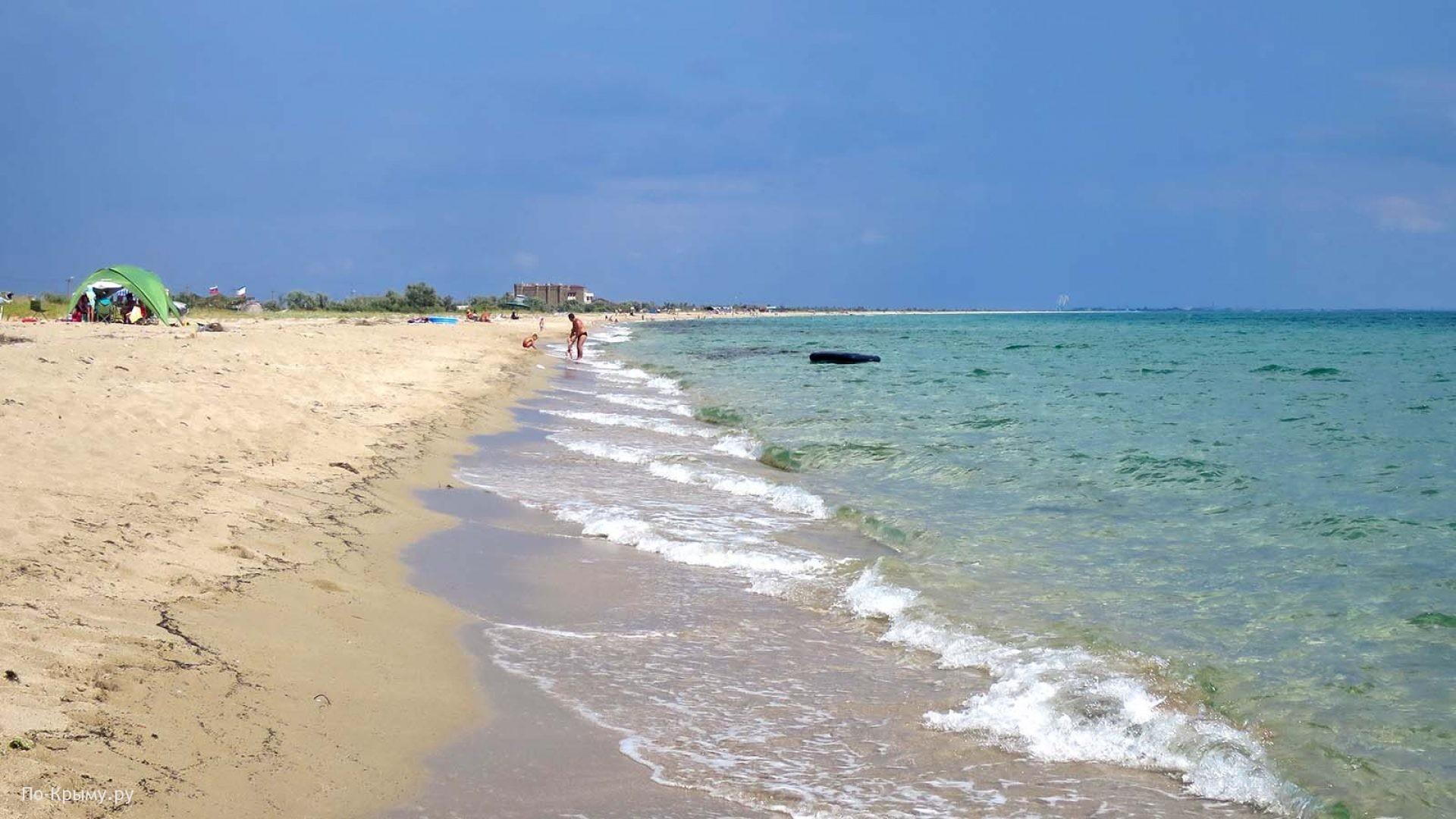 Песчаные пляжи поселка Знаменское