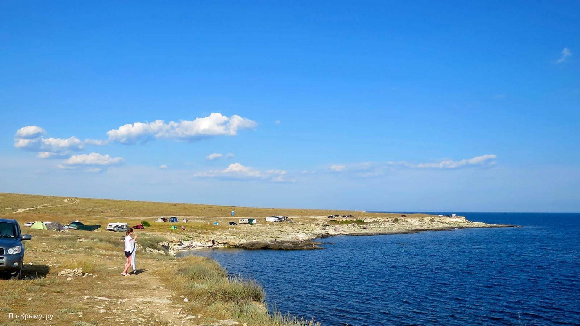 Скалистые пляжи западного Крыма