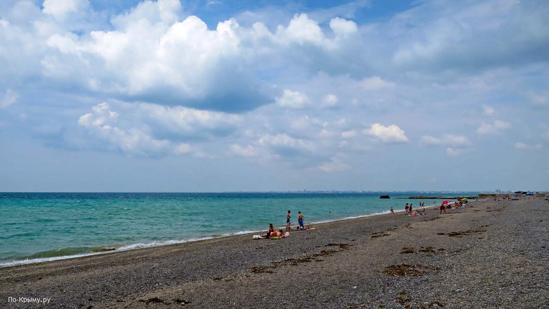 Самый длинный пляж на западе Крыма