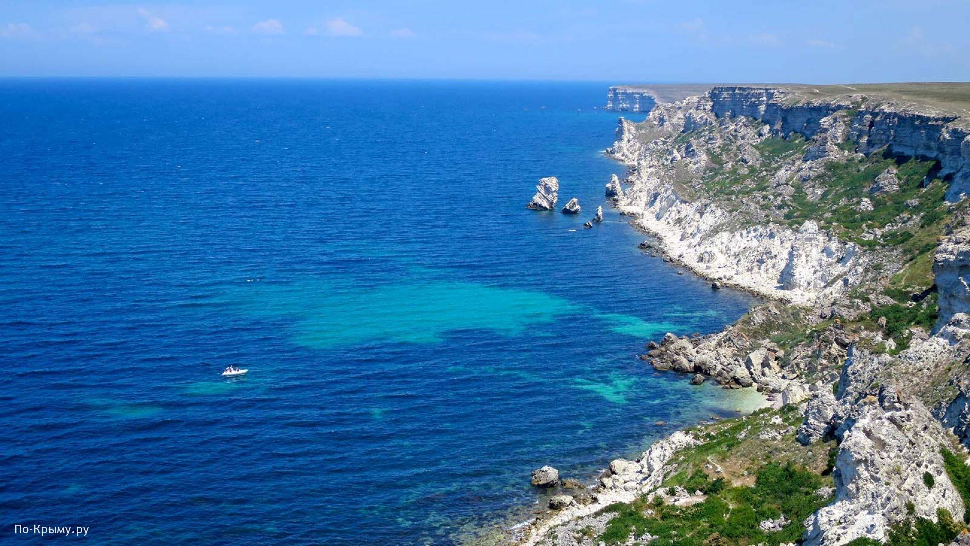 Обрывистые берега Тарханкутского полуострова