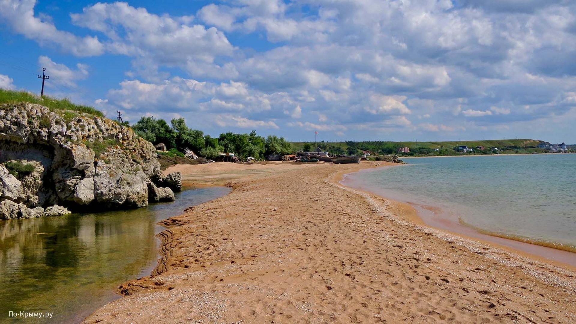 Песчано-ракушечные берега Казантипского залива
