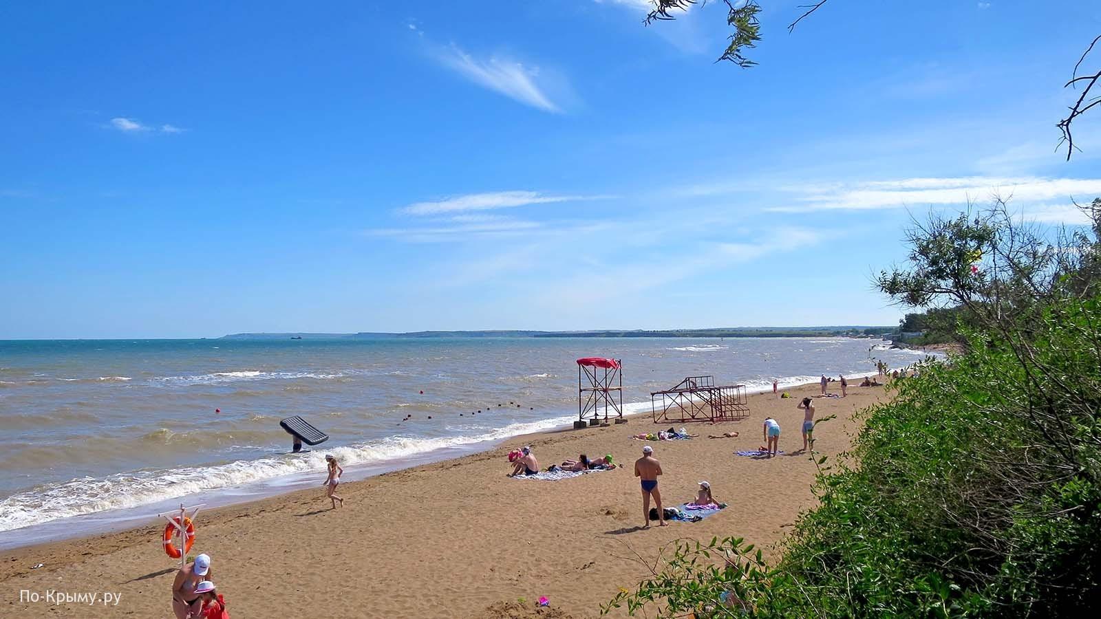 Керченский пролив. Песчаный пляж Героевского