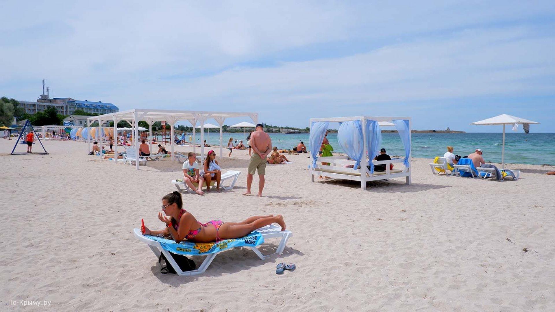 Черноморское Крым пляж