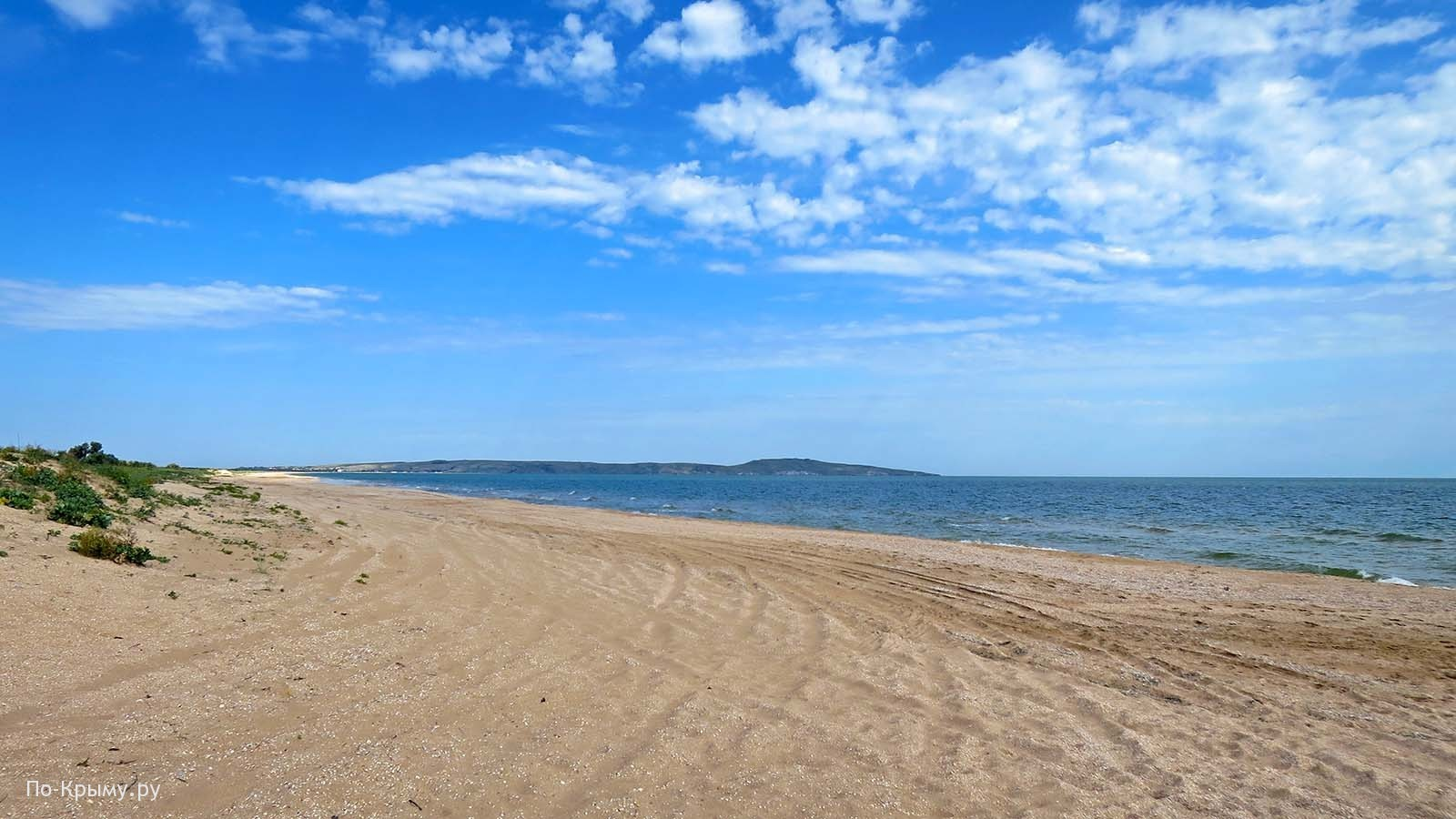 Берег Азовского моря. Казантипский залив