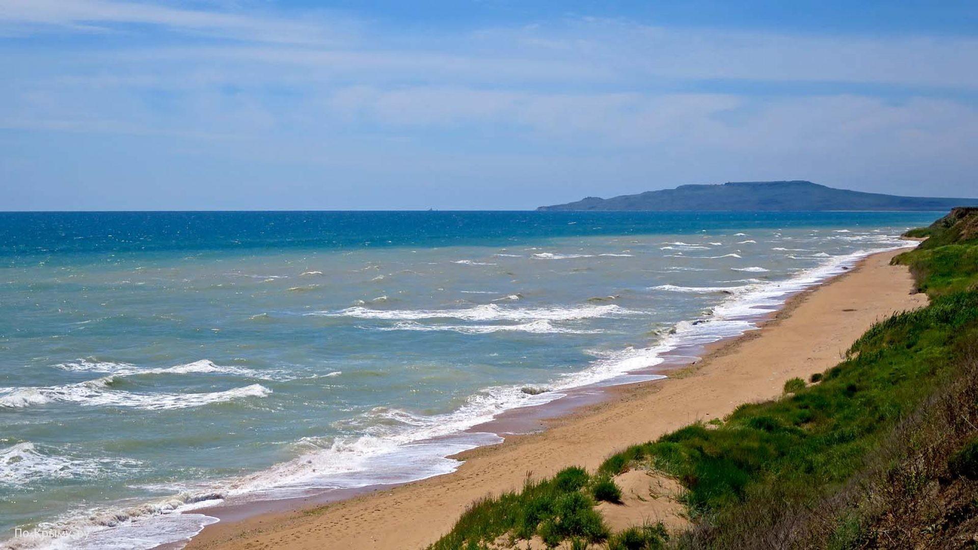 Восток Крыма. Просторные дикие песчаные пляжи