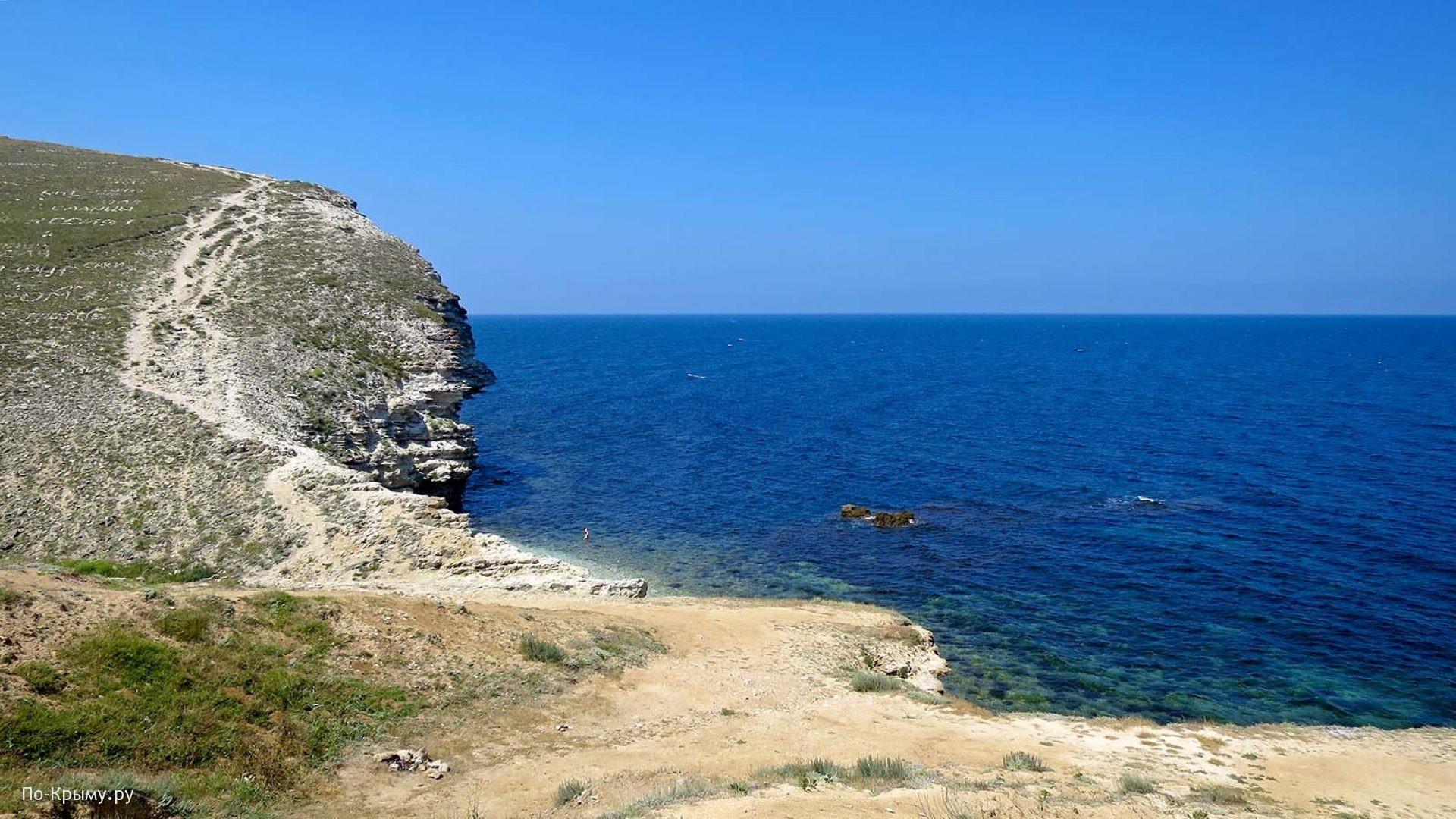Галечные пляжи Тарханкутского полуострова