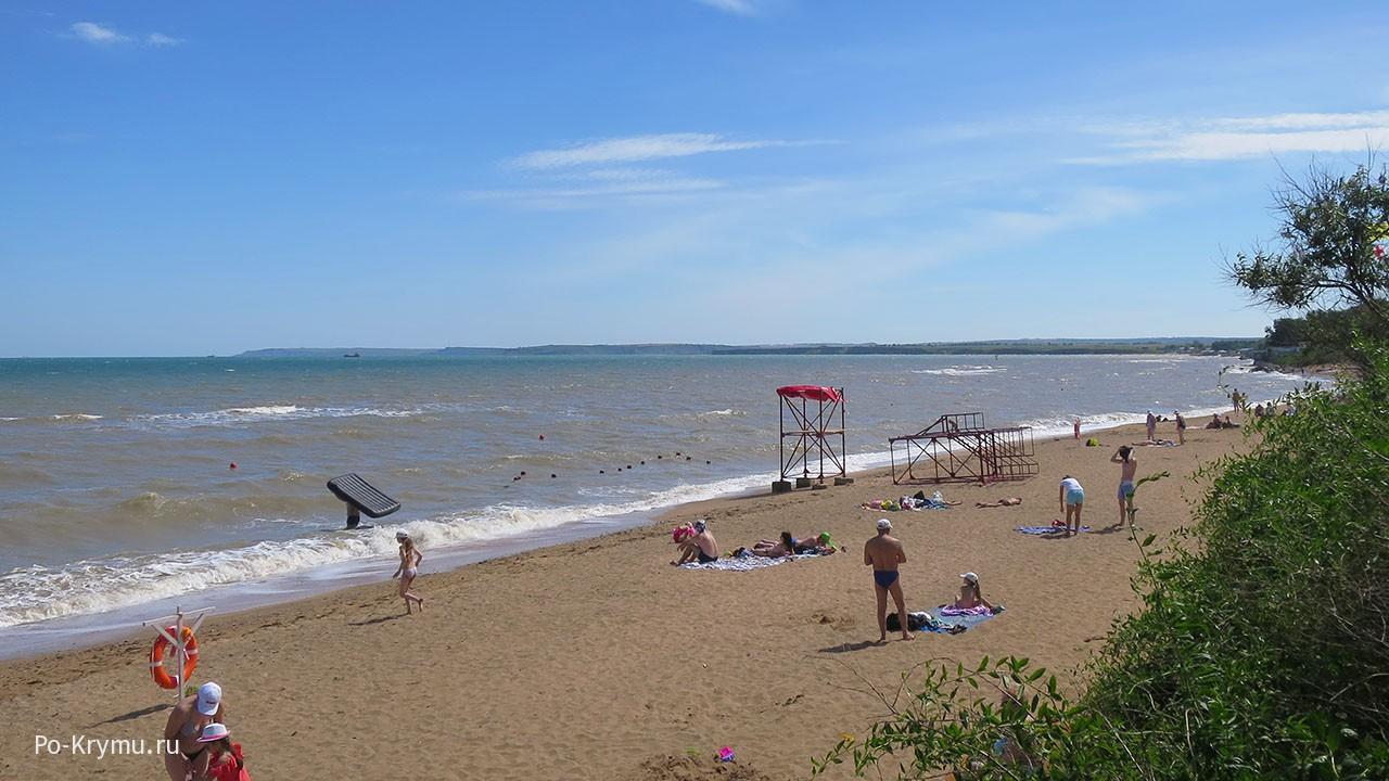 Фото пляжа в Героевском, Керчь