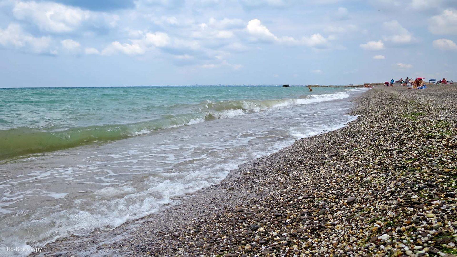 Лучший мелкогалечный пляж Западного Крыма