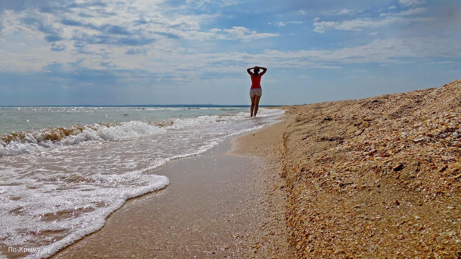 Ракушечный берег Казантипского залива
