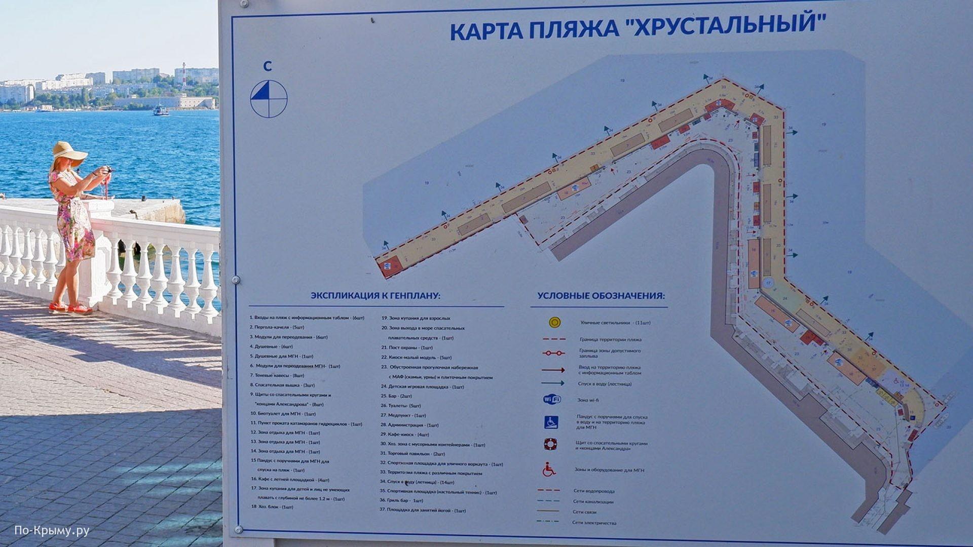 План-схема городского пляжа