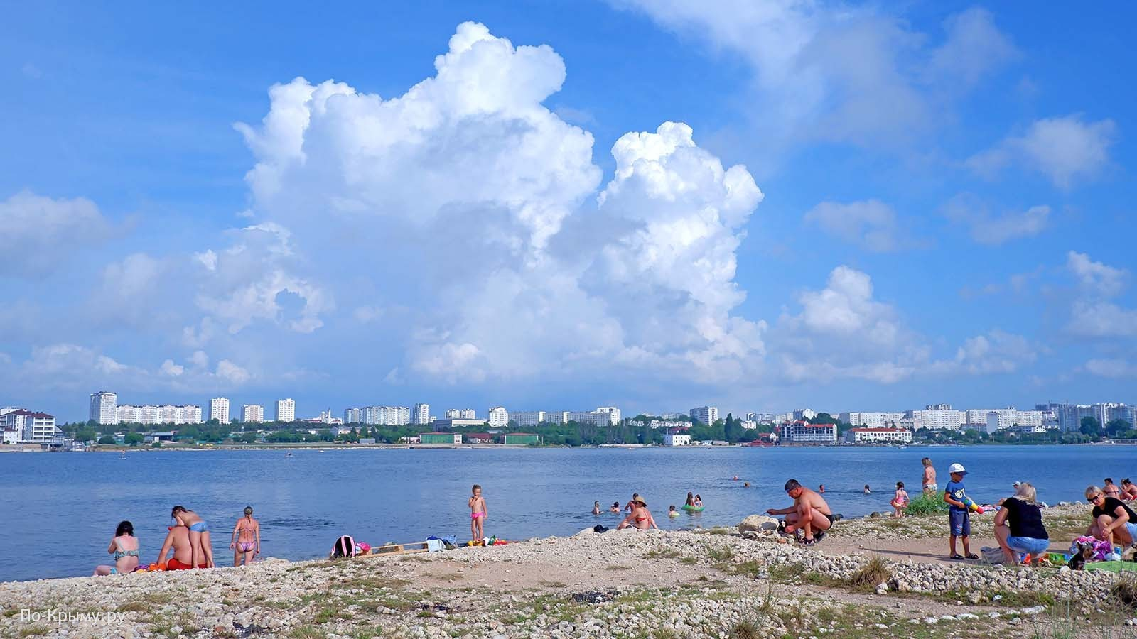 Дикая Омега, вид на пляж Вертолетка