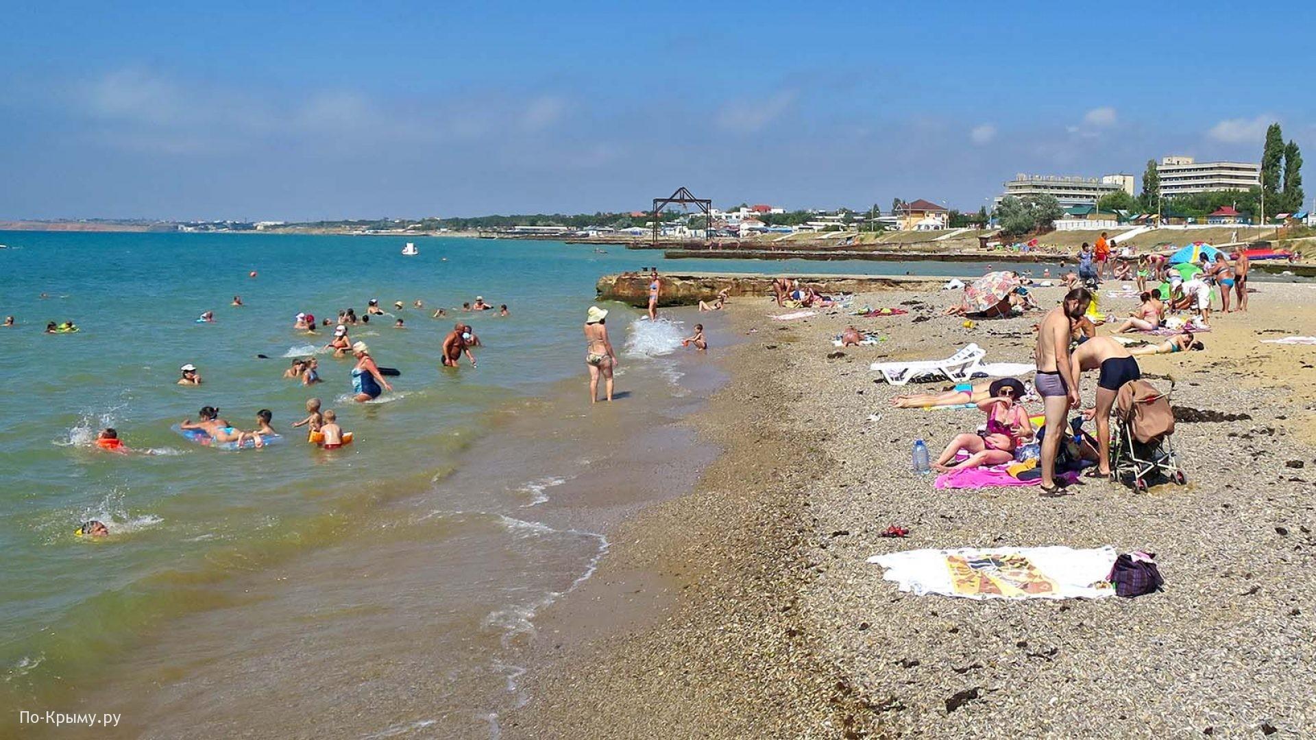 Песчано-галечный берег