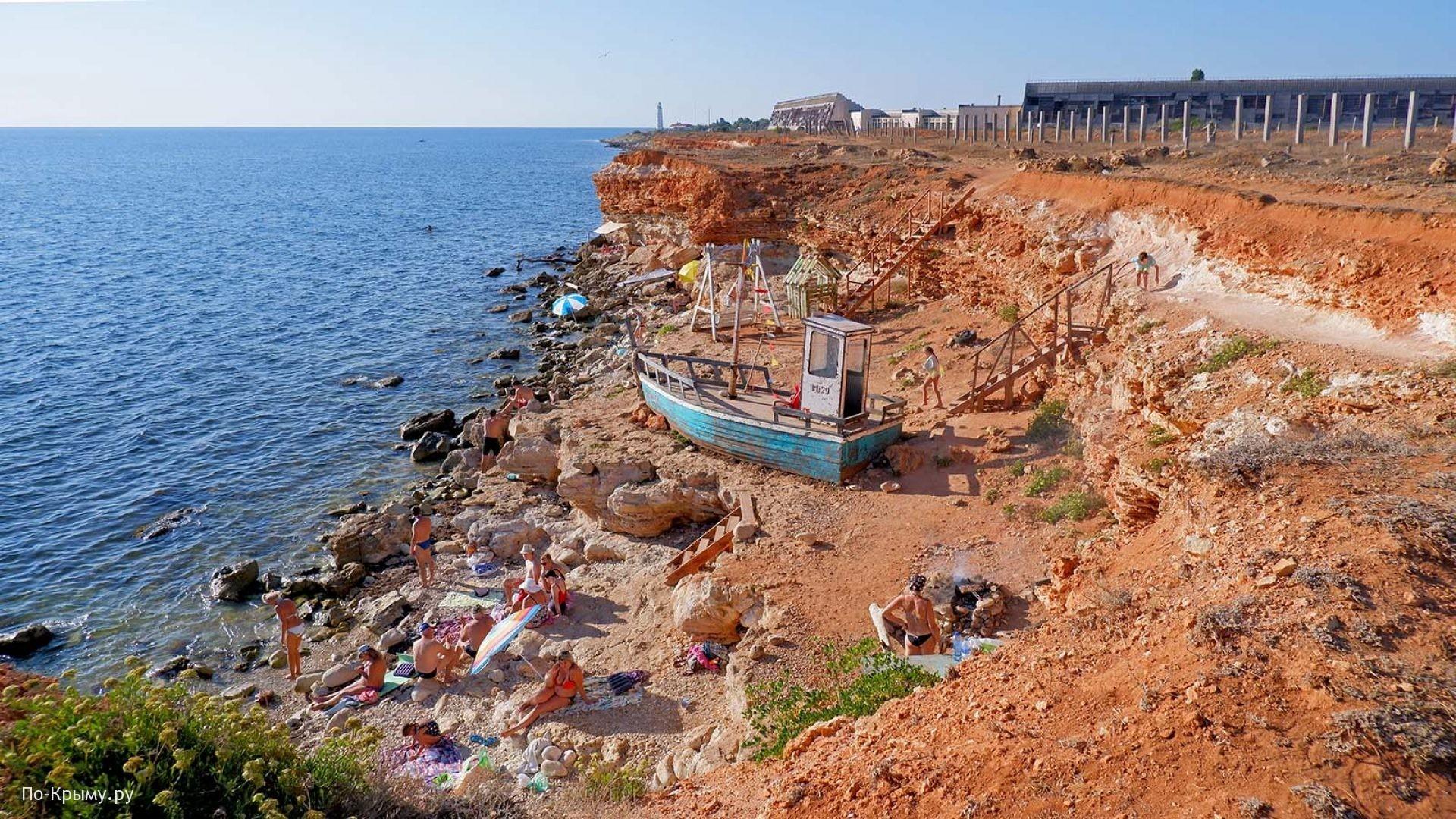Мыс Херсонес, дикие пляжи