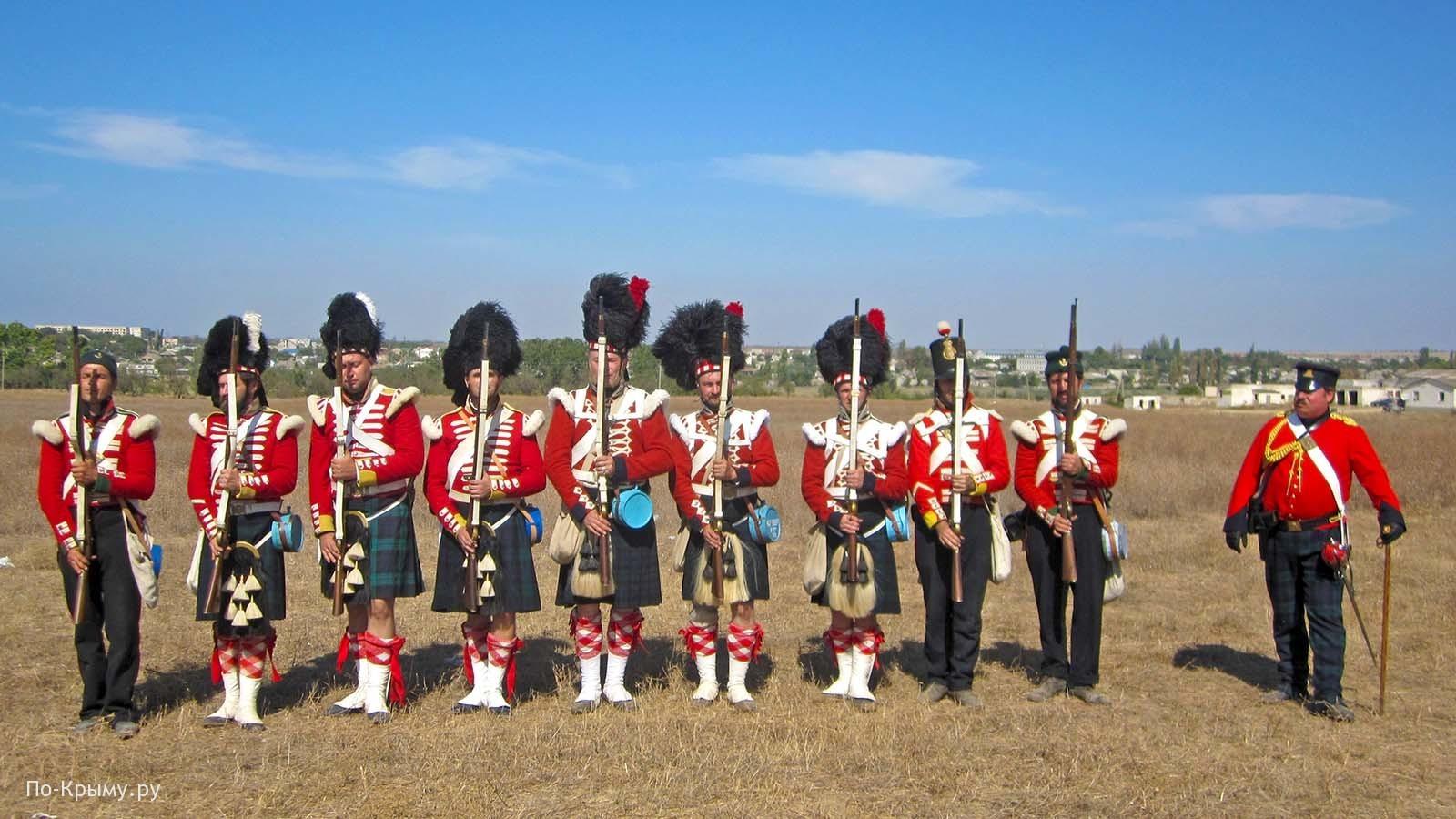 Шотландские стрелки на Альминском поле