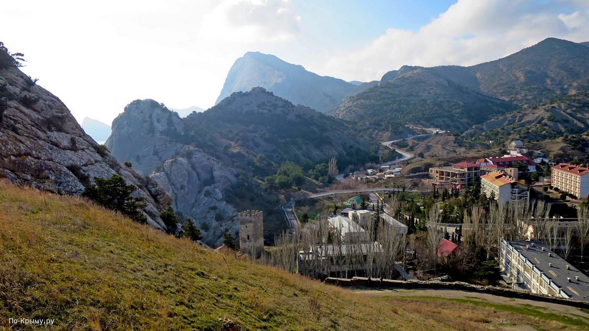Вид на город с Крепостной горы