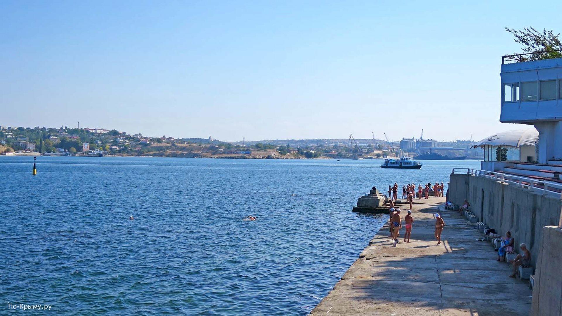 Бетонные пляжи Севастопольской бухты
