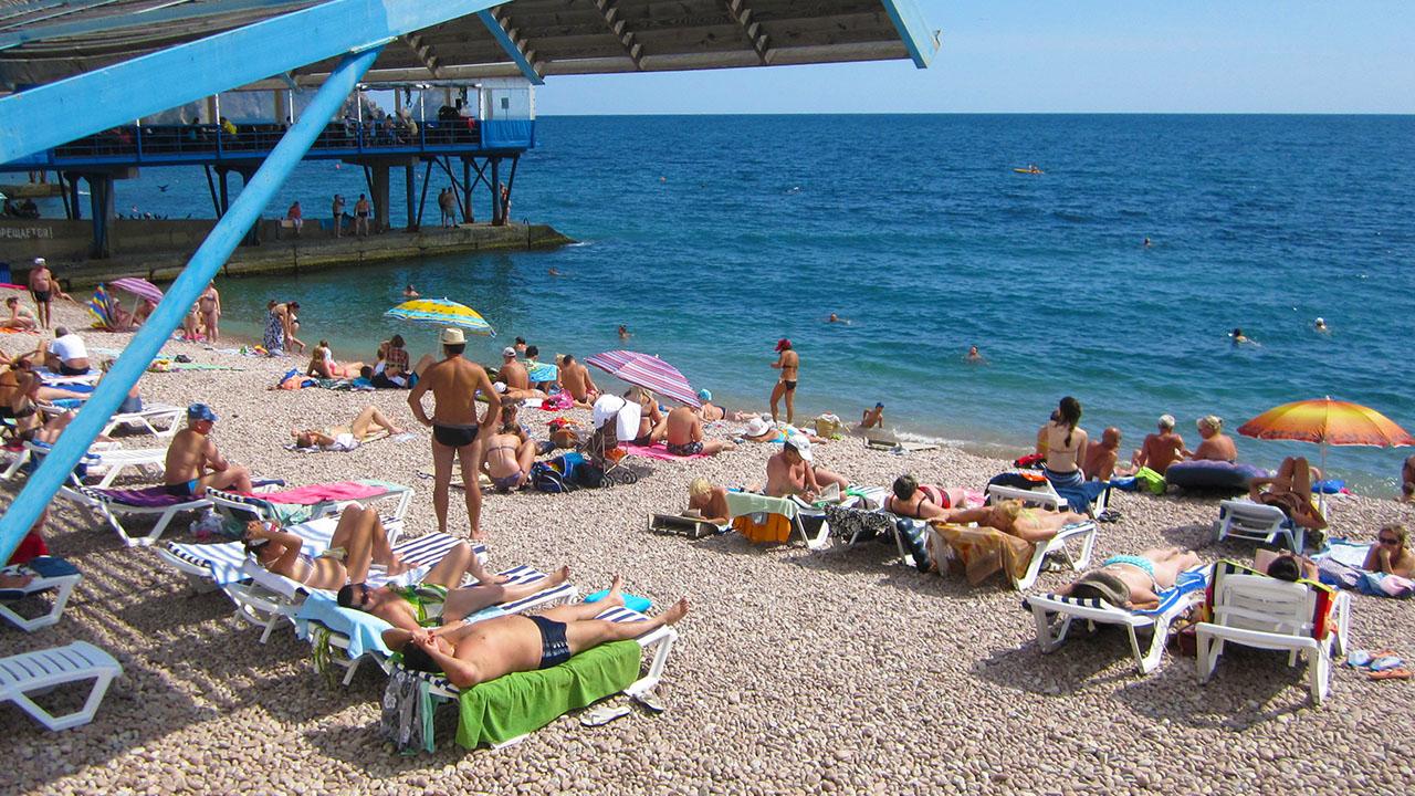 Удобный пляж Гурзуфа