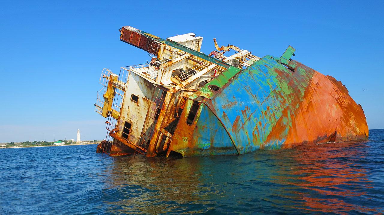 Кораблекрушение у тарханкутского маяка